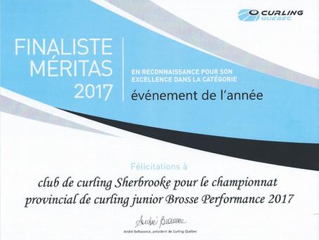 Sherbrooke finaliste Méritas Curling Québec pour événement de l'année