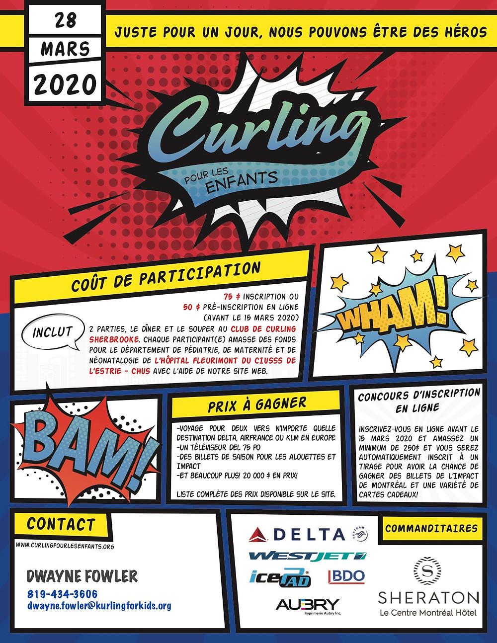 Affiche Curling pour les enfants 2020