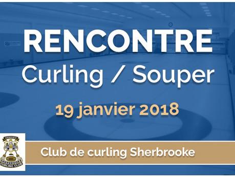 Rencontre Curling / Souper vendredi 19 janvier
