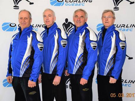 L'équipe Blais se qualifie pour le championnat provincial maîtres masculin 2018