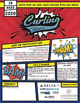 Kurling for Kids Event Poster Sherbrooke 2020