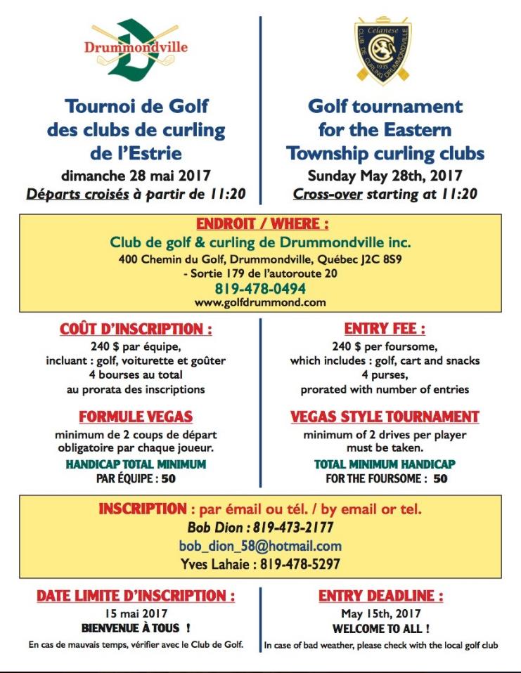 Tournoi de golf ARCE 2017