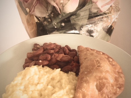 Empanada with Rice and Beans
