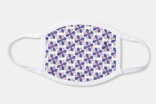 """USA Heart Flower Pattern"" Mask"