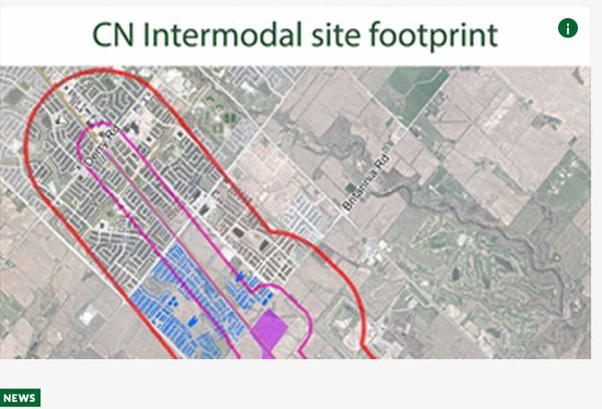 Controversial CN intermodal hub in Milton gets green light from federal government*
