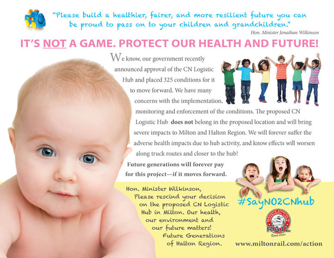 It's not a game. Protect our health and future!