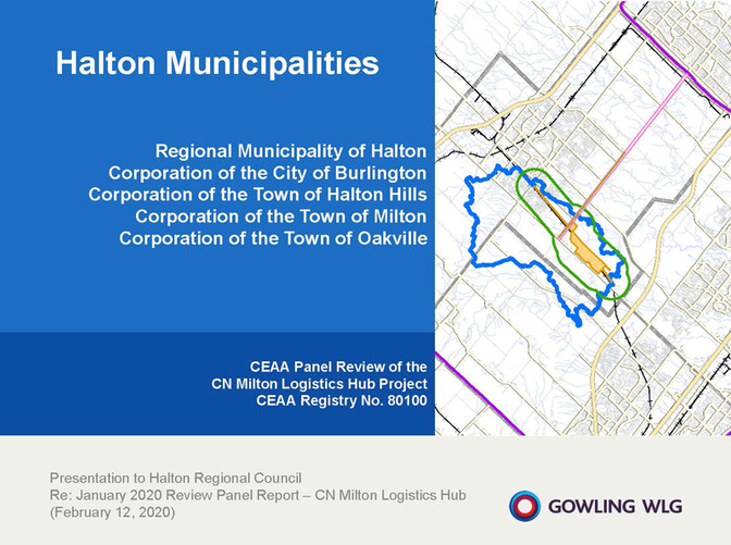 GOWLING WLG - CN Presentation to Council - February 12, 2020
