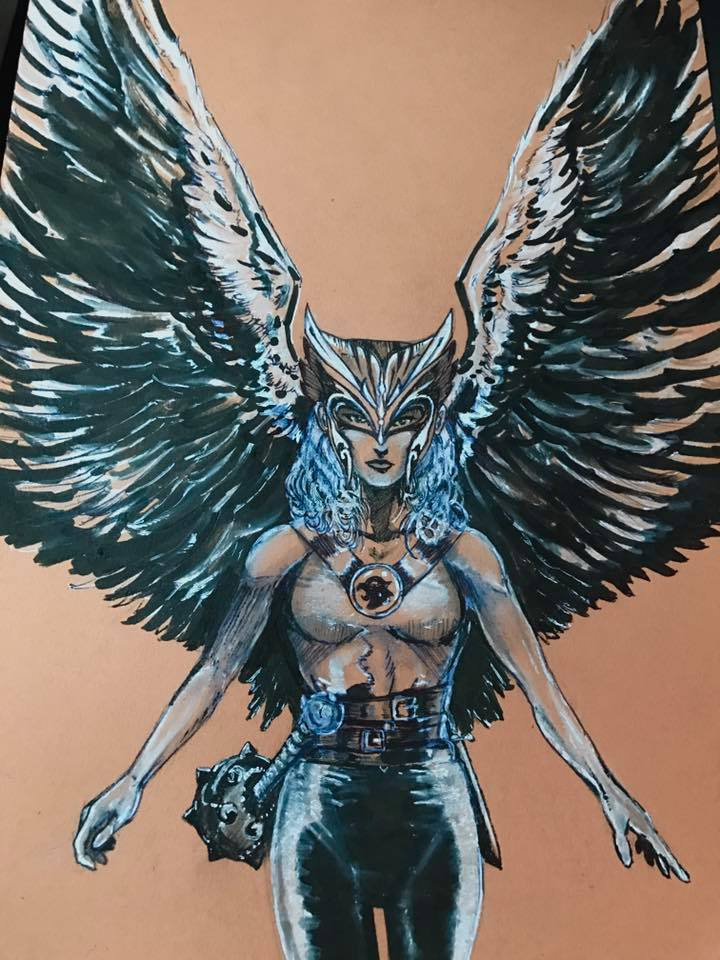 Hawk Girl Commission