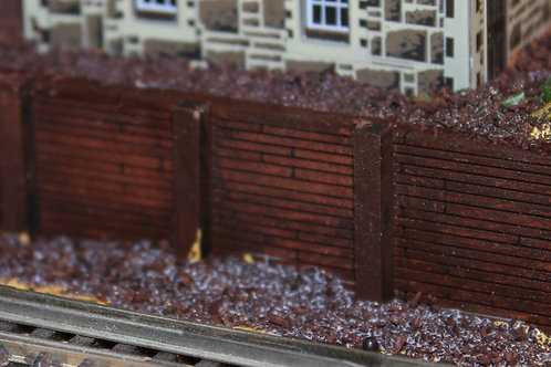 N Scale wooden Retaining Wall. 175mm x 8.5mm. Sheet. see details.