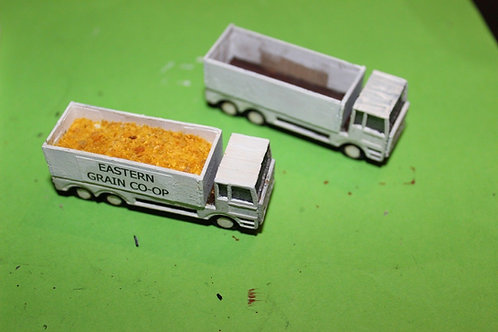 N scale - Tipper Trucks x 2 - MDF and ply kit scenery items