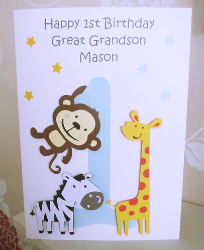 Children's Zoo Animal Birthday Card (Any Age)