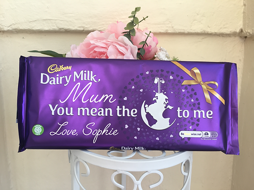 Personalised Chocolate Bar Wrapper