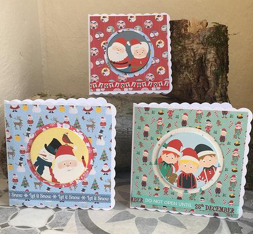 Set of three Christmas fun cards