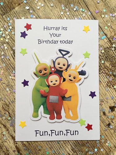 Multi-Coloured Creature Birthday Card