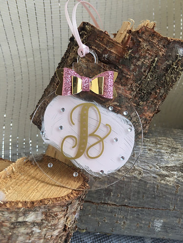 Monogram Christmas Bauble/gift tag