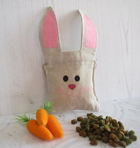 Fun pet rabbit treat bag