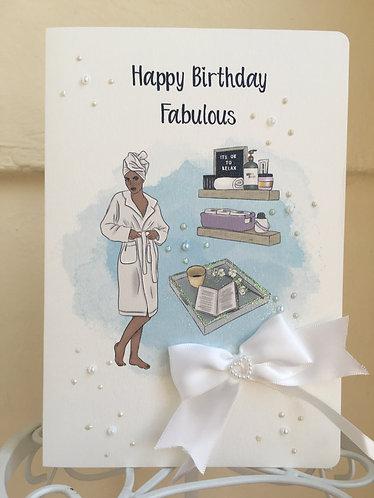 Spa Day Birthday card
