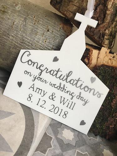 Congratulations Wedding Day Personalised Church
