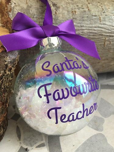 Teacher Christmas Bauble