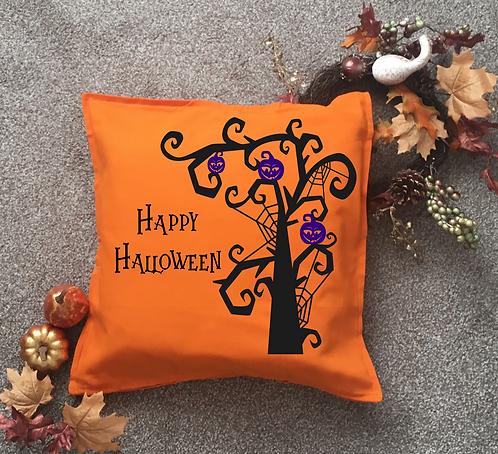 Halloween Pumpkin Tree Cushion Cover