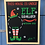 Thumbnail: Large Personalised Elf Surveillance Christmas Countdown Chalkboard
