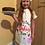 Thumbnail: Children's Christmas Baking Apron with Hat (S,M,L)