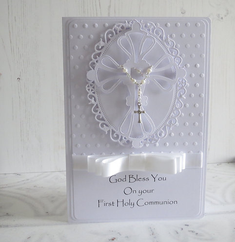 Luxury First Holy Communion card