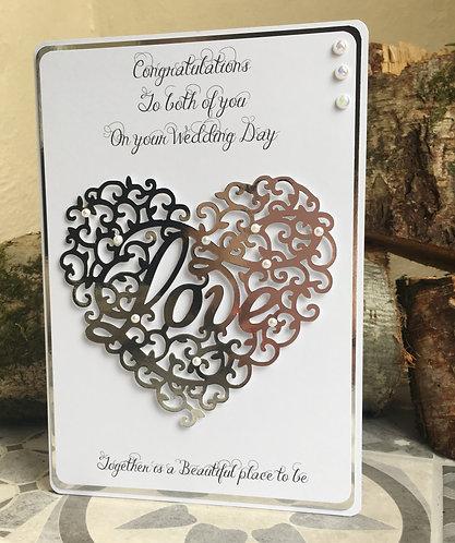 Wedding Day Silver Heart