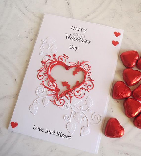 Luxury Heart Shaker Valentines Card