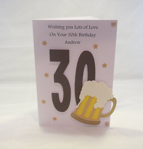 Men's Milestone Birthday Celebration Card