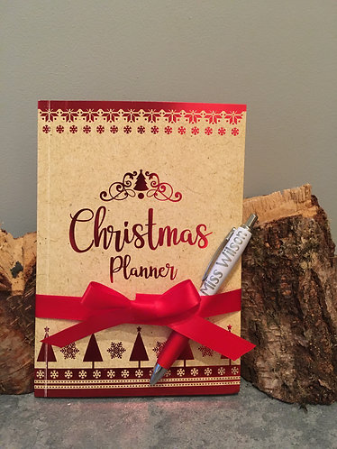Personalised Christmas Planner and Pen