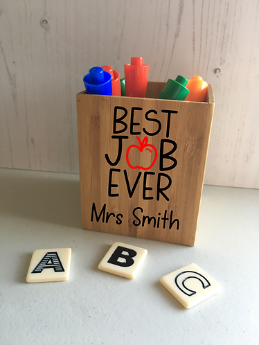 Personalised Teacher Thank You Gift, Desk Tidy
