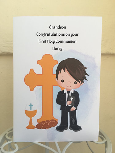 Boy's First Holy Communion Card