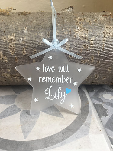 Personalised Memorial Decoration