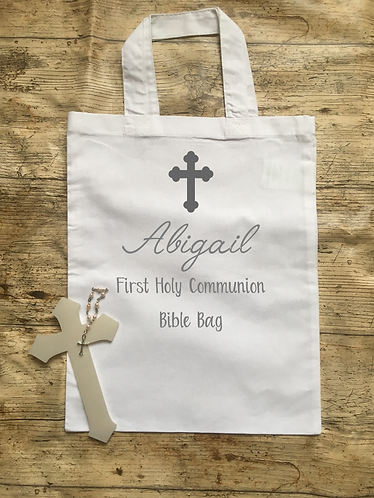 First Holy Communion Bible Bag Personalised