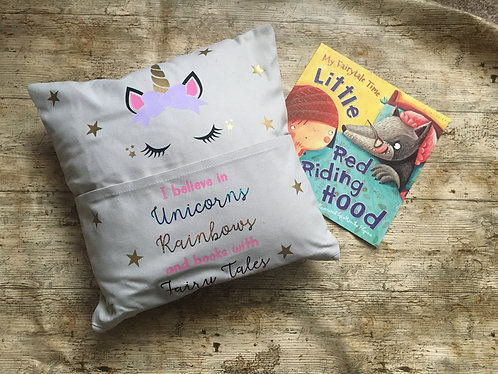 Pocket Book Reading Cushion - Unicorn