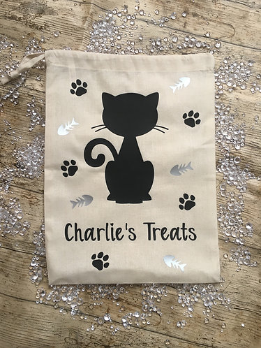 Cat Treat Sack Personalised