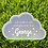 Thumbnail: Large Personalised Nursery Keepsake Cloud Sign
