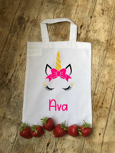 Unicorn Themed Personalised Party Bag