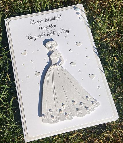 Daughter Wedding Day Celebration Card