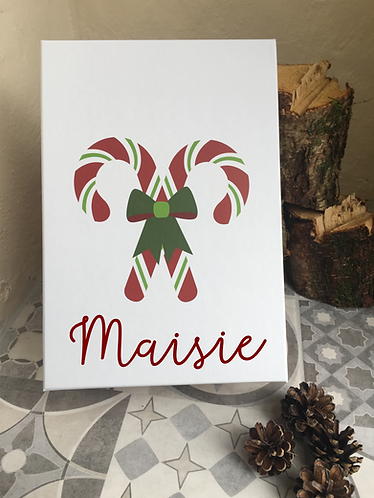 Personalised Candy Cane Gingerbread House Gift Box/Christmas Eve Box
