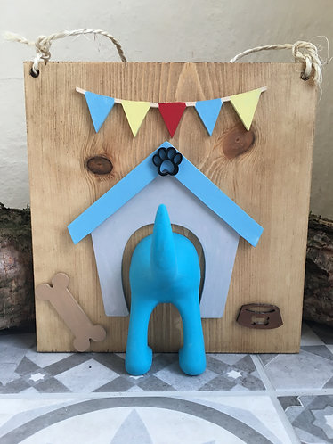 Novelty Dog Lead Holder - Blue