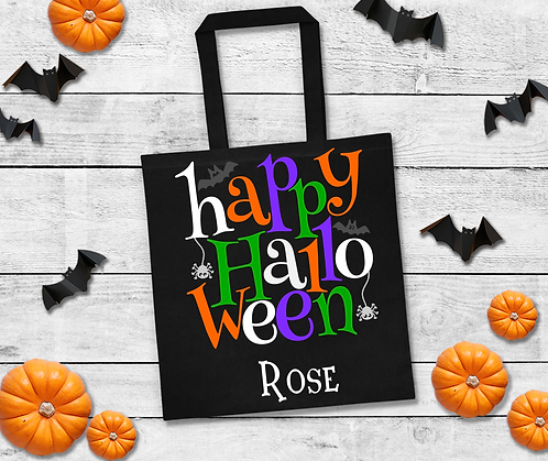 Personalised Happy Halloween Trick or Treat Bag