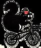 logo les micro-aventures de lulu avec un écureuil sur un vélo