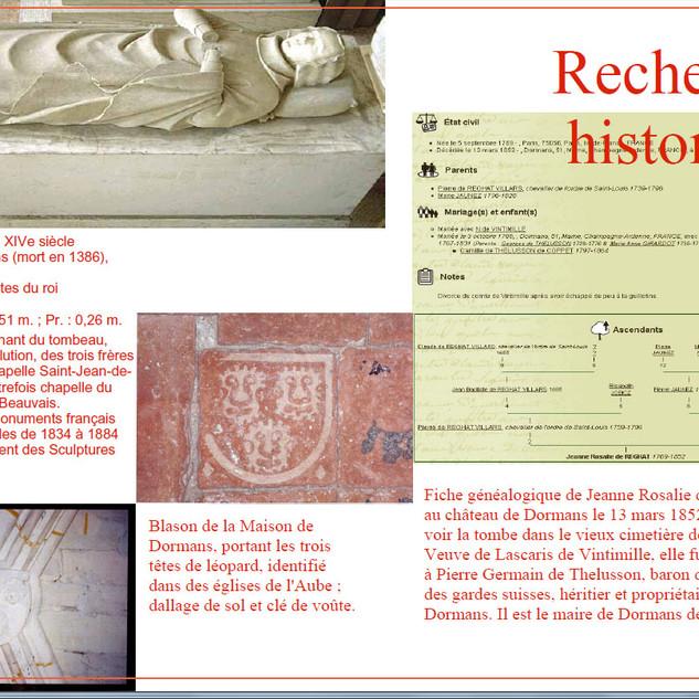 Recherches historiques.