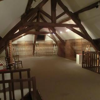 Salon d'Automne 2011, le grenier vide, attend ses oeuvres.