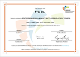 FTG_INC_MINORITY_SUPPLIER_CERTIFICATION_