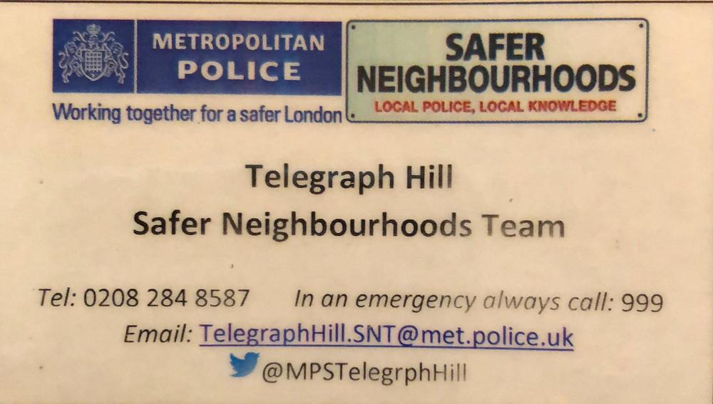 Telegraph Hill Safer Neighbourhood Team