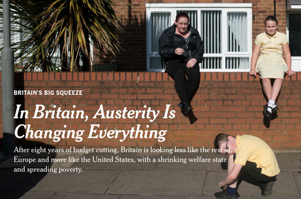 New York Times article on austerity in Britain. It makes somber reading for Tory voters