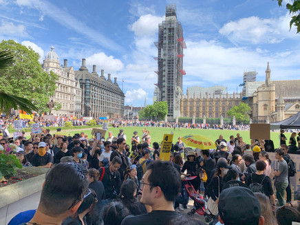 #StandWithHongKong demo in London today 17 August 2019